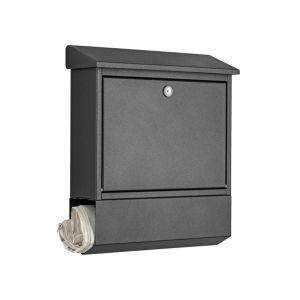 Heibi Briefkasten verzinkt und pulberbeschichtet 43817-039 Grafitgrau