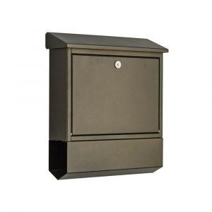 Heibi Briefkasten verzinkt und pulberbeschichtet 43817-043 Mokkabraun