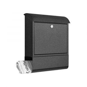 Heibi Briefkasten verzinkt und pulverbeschichtet 43802-039 Grafitgrau