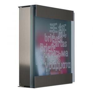 Keilbach Briefkasten Glasnost bedrucktes Glas 071118