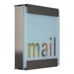 Keilbach Briefkasten glasnost glas bedrucktes Glas mail 07 1116