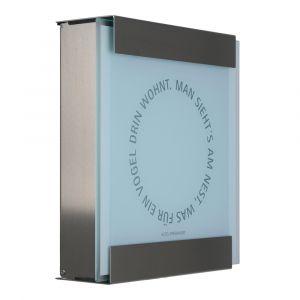 Keilbach Briefkasten glasnost glas bedrucktes Glas nest 07 1117