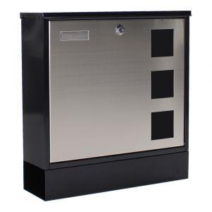 Profirst Mail PM 230 Briefkasten Schwarz/Silber